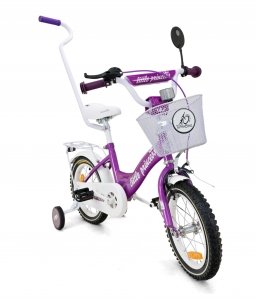 rower rowerek bmx 14 cali Little Princess FIOLET